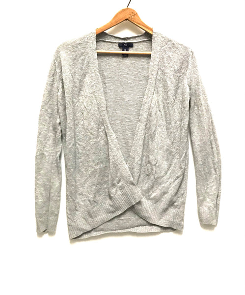 Small / Cardigan / Gap / Light Grey Open Front Long Sleeve