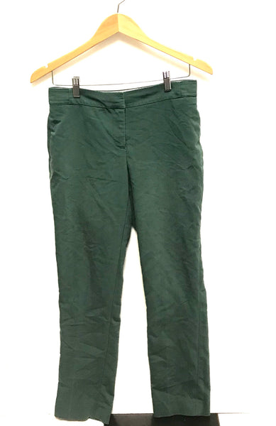Medium Size 8 / Dress Pants / H&M/ Green Zip-Up w Pockets