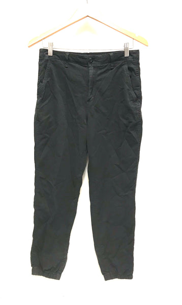 Small Size 6 / Pants / Gap / Black Joggers Zip-Up Elastic Waist and Cuff w Pockets