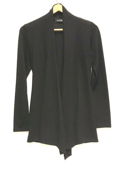 Small / Cardigan / Eclipse / Black Open Front Long Sleeve
