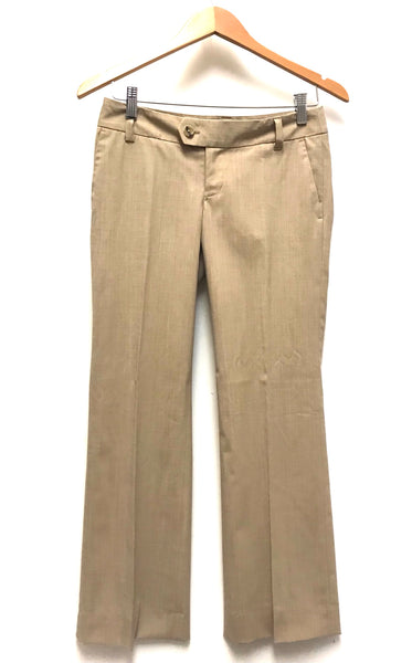 XS Size 0 / Dress Pants / Banana Republic / Khaki Stretch Flared Zip-Up