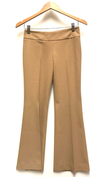 XS Size 0 / Dress Pants / Aritzia Talula Babaton Stretch / Khaki Side Zipper Flared
