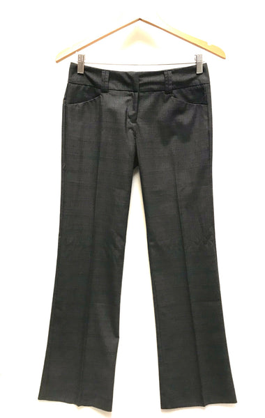 XS Size 0 / Dress Pants / New York & Company Stretch / Grey w Pockets Zip-Up
