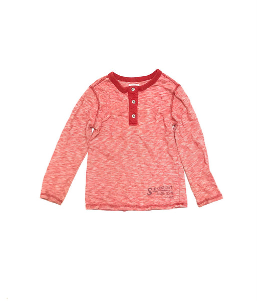 5T XS Youth / Long Sleeve Shirt / Baby Gap / Red Henley