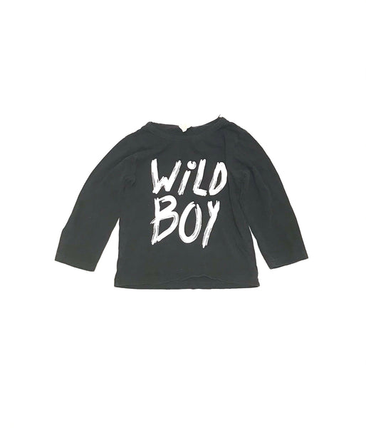 3T 4T / Long Sleeve Shirt / Kids Tales / Black Wild Boy