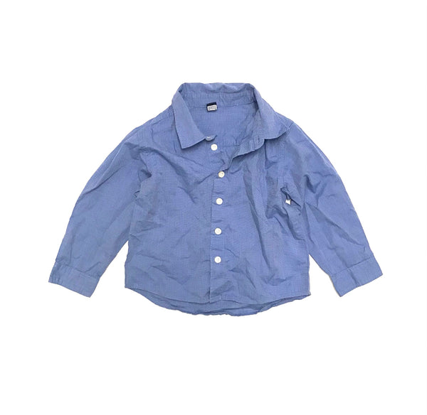 4T / Long Sleeve Shirt / Baby Gap / Blue Button-Up Collared