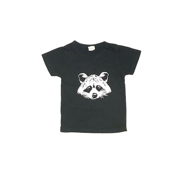 12m / T-Shirt / Kids Tale / Black w Racoon