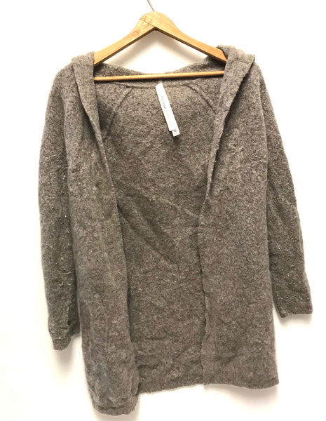 XXS / Cardigan / Aritizia The Group Babaton / Grey Wool Open Front Hoodie w Pockets