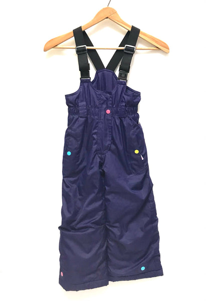 4T / Snow Pants / Etirel / Purple Overalls Suspender Bib