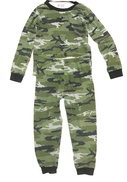 3T / Pyjama Set / Children's Place / Green Grey Camouflage Long Sleeve