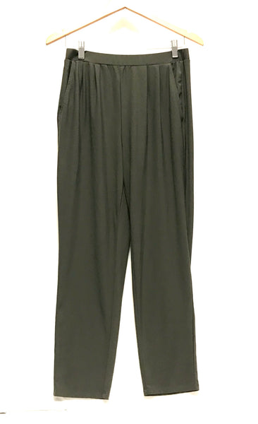 Medium / Pants / Leith / Olive Green Elastic Waist w Pockets