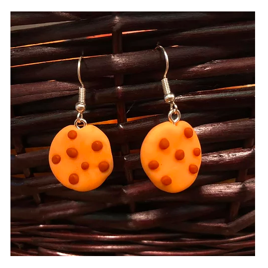 Earrings / Chocolate Chip Cookies / Polymer Clay