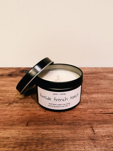 Candle / Organic Soy / Fireside French Toast / 4oz / Cotton Wick