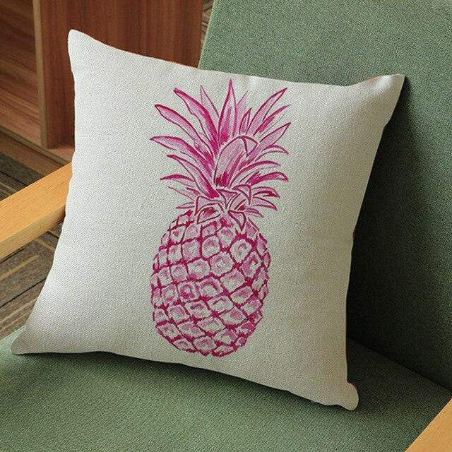Coussin Ananas Rose