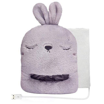 Coussin Chauffant Lapin Gris
