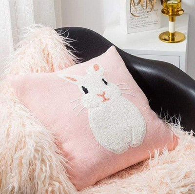Coussin Lapin Brodé