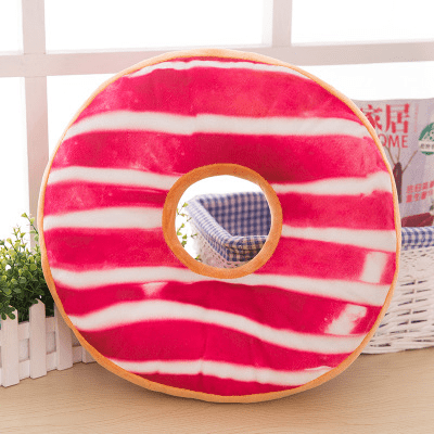 Coussin Donut Rose