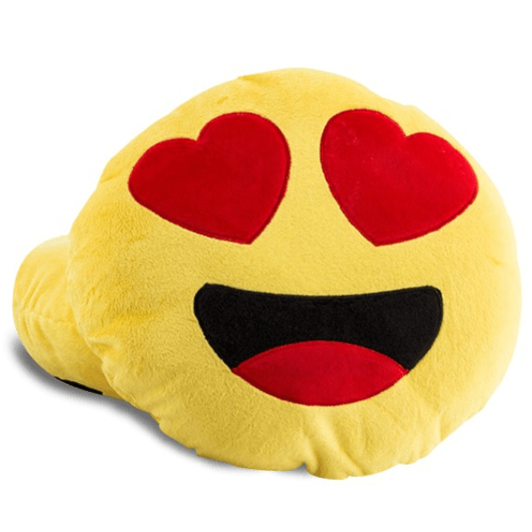 Coussin Emoji Amoureux