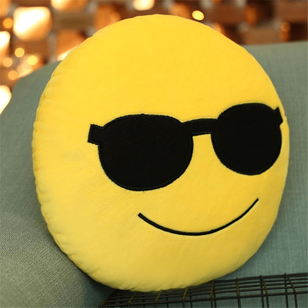 Coussin Emoji Lunettes