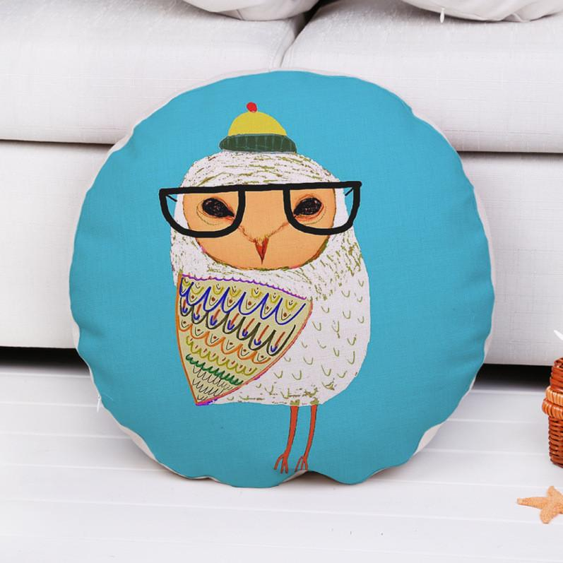 Coussin Hibou Rond