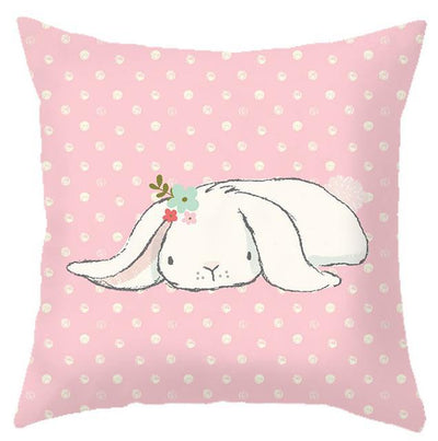 Coussin Lapin Rose Couché