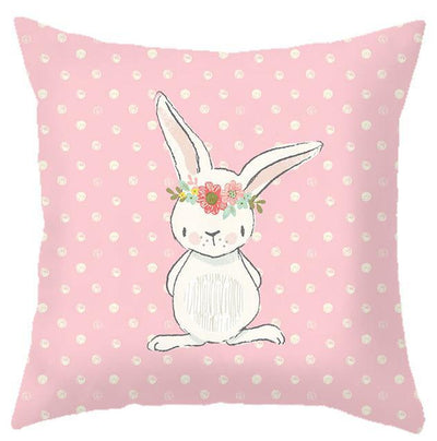 Coussin Lapin Rose