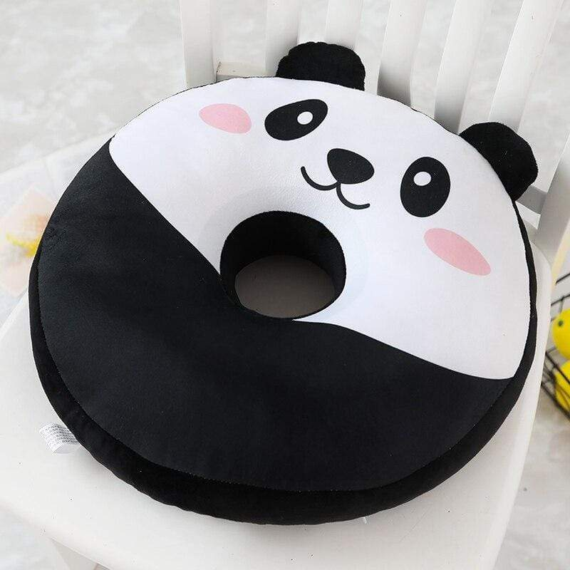Coussin Panda Rond