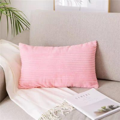 Coussin Rectangulaire Rose à Rayures