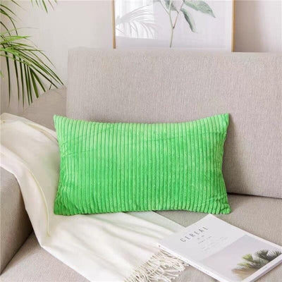 Coussin Rectangulaire Vert à Rayures