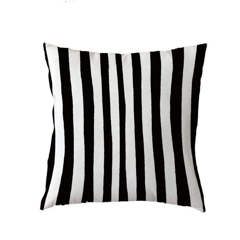 Coussin Rayures Noires