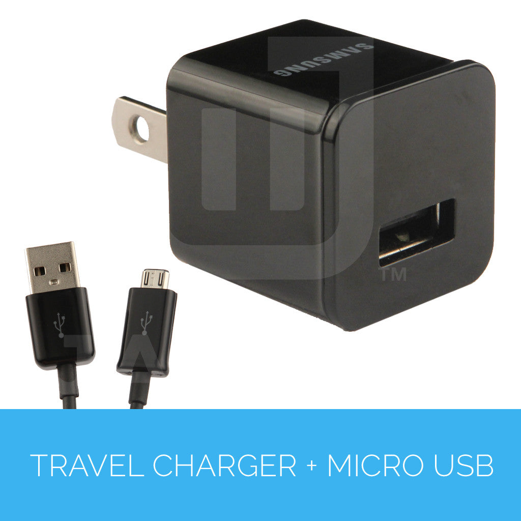 Travel Charger 1A (Detachable with USB to Micro USB Cable)