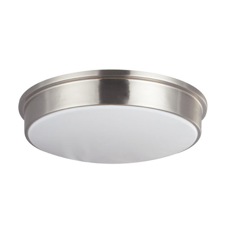Contemporary Satin Steel Flush Mount