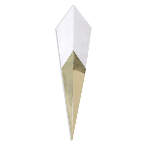 Modern Spearhead Sconce- Goldtail