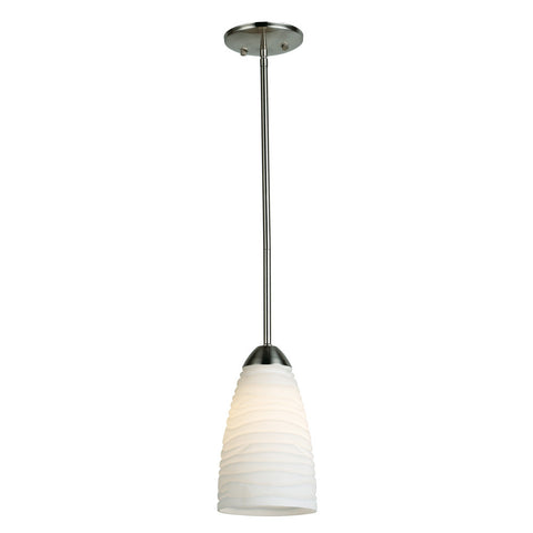 Opal Glass Rod Pendant Light