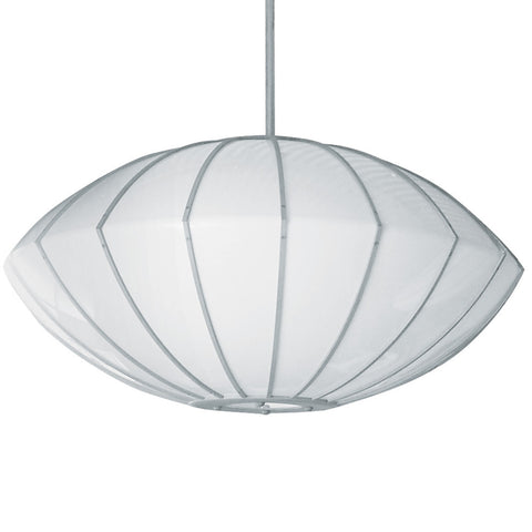 Contemporary Creased Orb Pendant Light