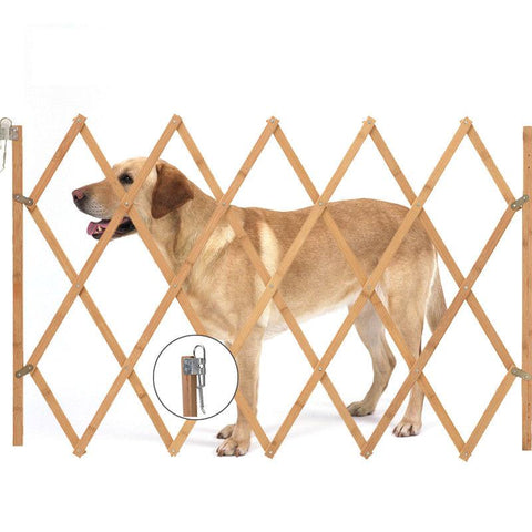 CellDeal Adjustable Dog Barrier LIN 60-108cm Natural White Barrier Stair & Door Protection Mesh Dog Gate Flexible XL Grid Fence - dog lovers