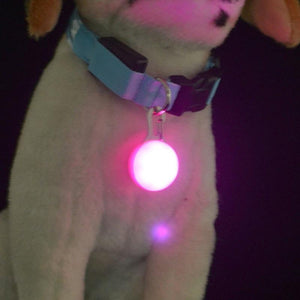 1 Pcs LED Pet Dog Collar Cute Pendant Night Safety Pendant Luminous Night Light Collar Pedant Pet Supplies Dog Accessories - dog lovers