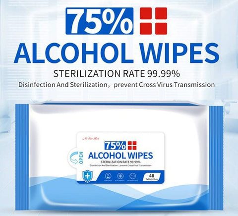 ANTIBACTERIAL - DISINFECTANT WIPES 75% ALCOHOL