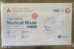 3-Ply FDA APPROVED LEVEL 1 SURGICAL MEDICAL FACE MASKS (5 PACKS)