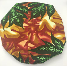 Load image into Gallery viewer, Medium Satin-Lined Bonnet: Leaf Print