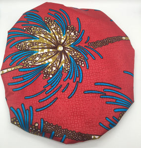 Medium Satin-Lined Bonnet: Palm Tree Print