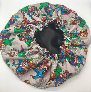 Kids Satin-Lined Bonnet: Marvel - Comic