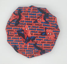 Load image into Gallery viewer, Baby Satin-Lined Bonnet: SpiderMan