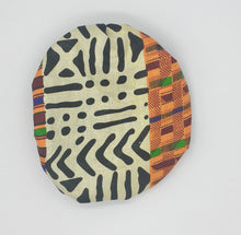 Load image into Gallery viewer, Baby Satin-Lined Bonnet: Black and White - Multicolored Strips