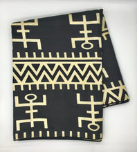 Load image into Gallery viewer, Head Wrap: Black and White Tribal Print