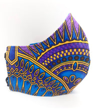 Load image into Gallery viewer, Blue Jewel: Contoured Adult Face Masks (One Size Fits Most; Ages 11+)