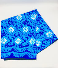 Load image into Gallery viewer, Head Wrap: Blue Flowers