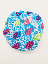 Load image into Gallery viewer, Baby Satin-Lined Bonnet: Multicolored Spots