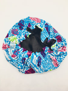 Baby Satin-Lined Bonnet: Multicolored Spots
