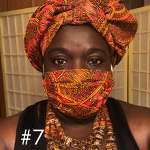 Load image into Gallery viewer, Mixed African Prints - 10 Patterns: Rectangle Adult Face Masks (One Size Fits Most; Ages 11+)
